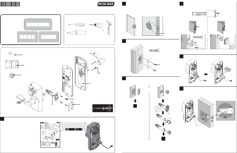 Schlage FE599 Locks Installation instructions PDF View