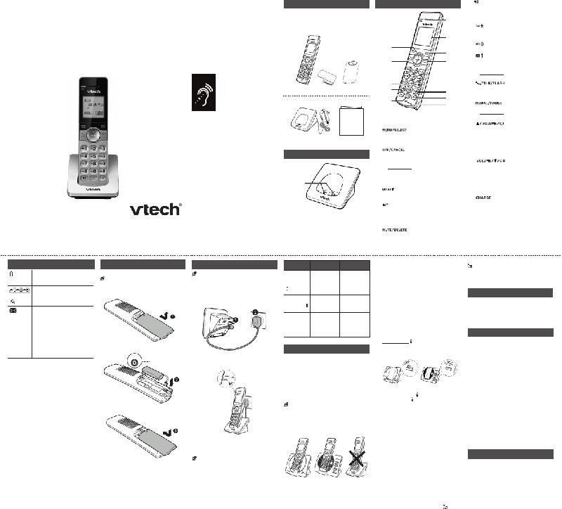VTech CS6909 Cordless Telephone Operation & user's manual
