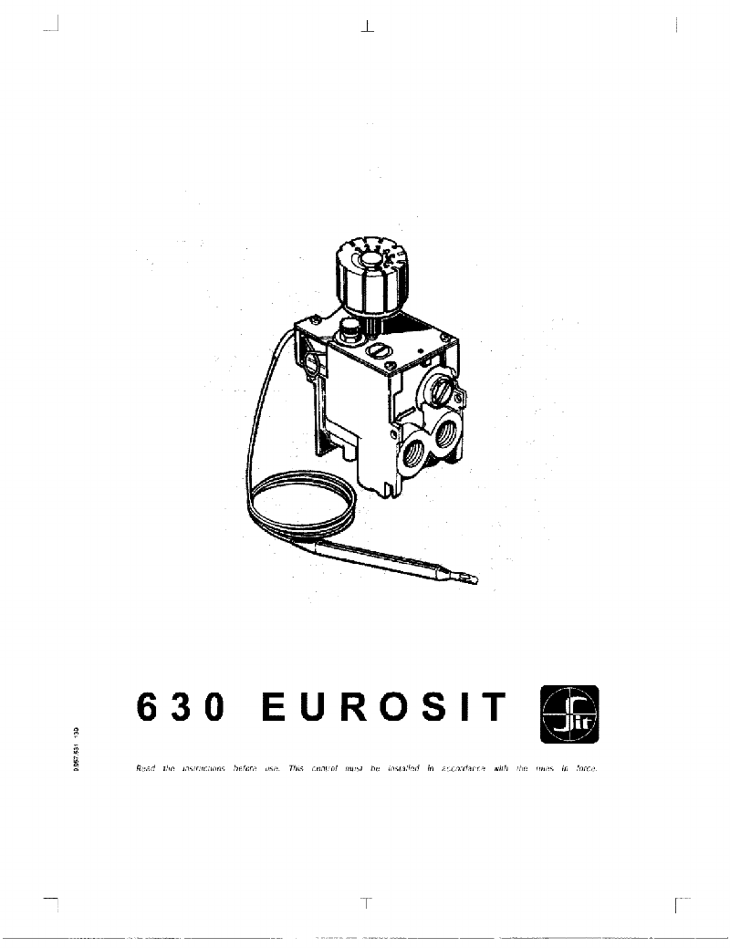 Sit 630 Eurosit Control Unit Use and installation