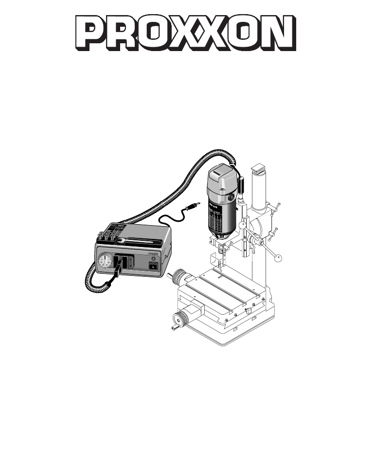 Proxxon BFW 40/E Wood Router Manual PDF View/Download