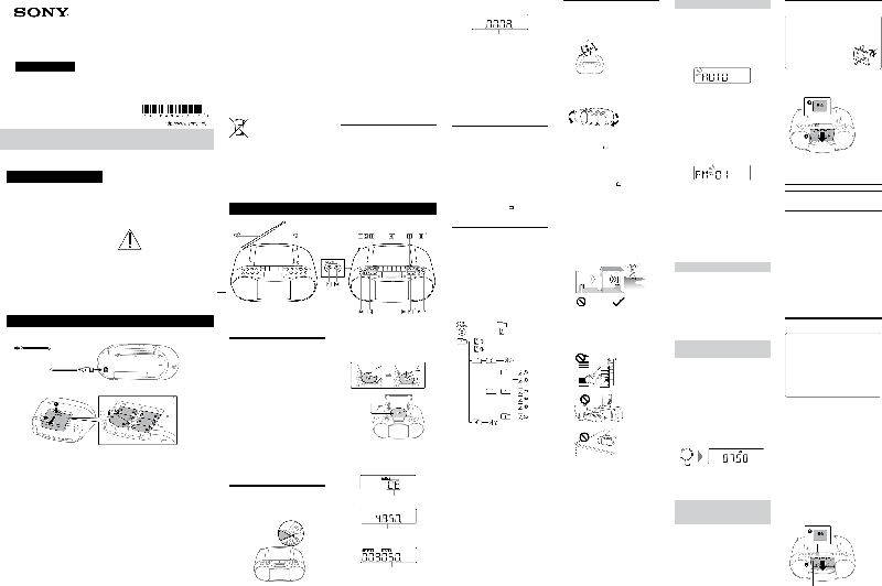 Sony CFD-S70 Stereo System Operating instructions PDF View