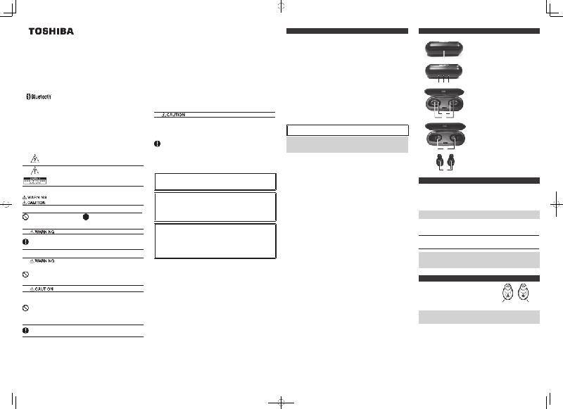 Toshiba RZE-BT700E Headphone Operation manual PDF View
