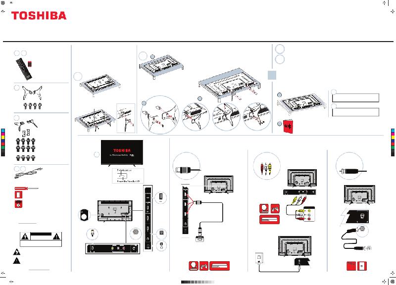 Toshiba 55L711U18 LED TV Quick setup manual PDF View/Download