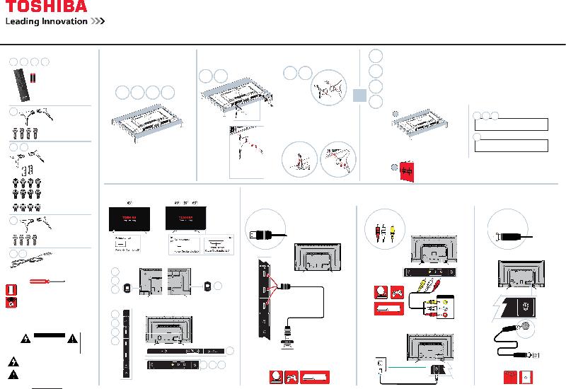 Toshiba CT-RC2US-17 TV Quick setup manual PDF View/Download