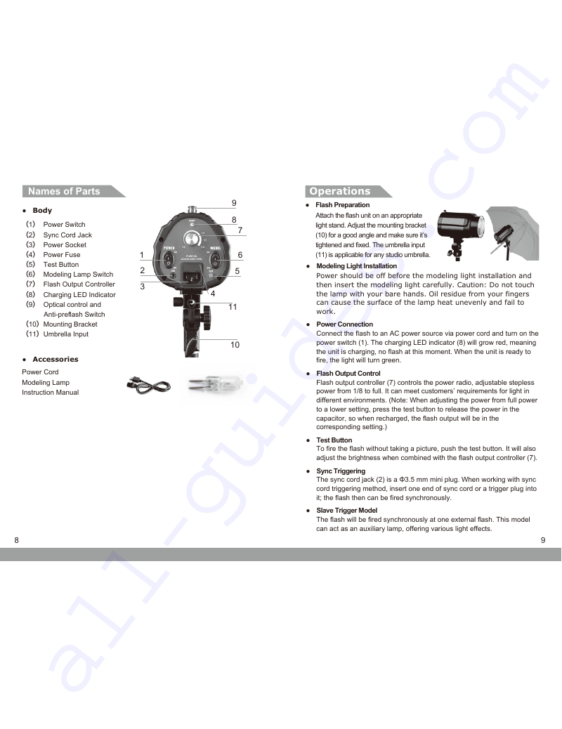 Godox Mini Pioneer 120 Camera Flash Instruction manual PDF