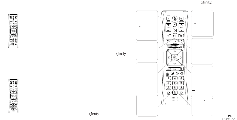 Comcast XR11 Remote Control Operation & user's manual PDF