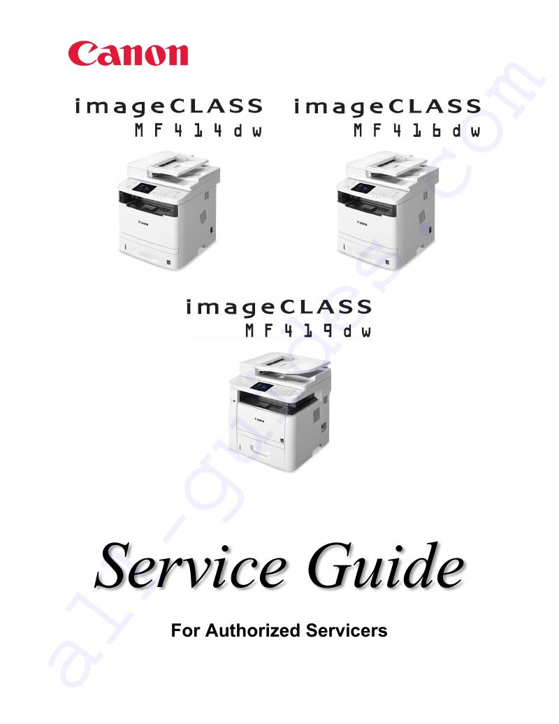 Canon imageCLASS MF416dw Printer Service manual PDF View