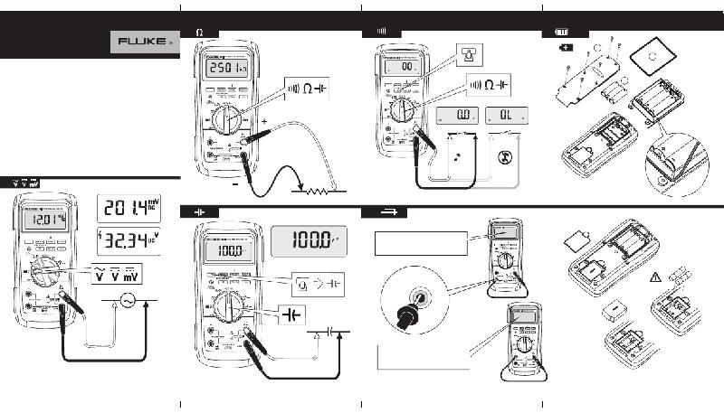 Fluke 27-II Multimeter Quick reference manual PDF View