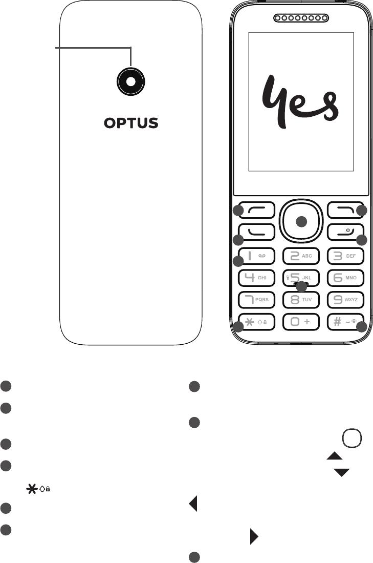 Optus X Lite Cell Phone Quick start manual PDF View