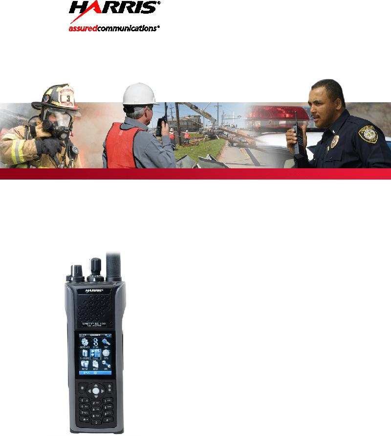 Harris Unity XG-100P Radio Operator's manual PDF View/Download
