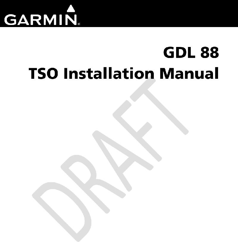Garmin 010-00859-00 Transceiver Installation manual PDF