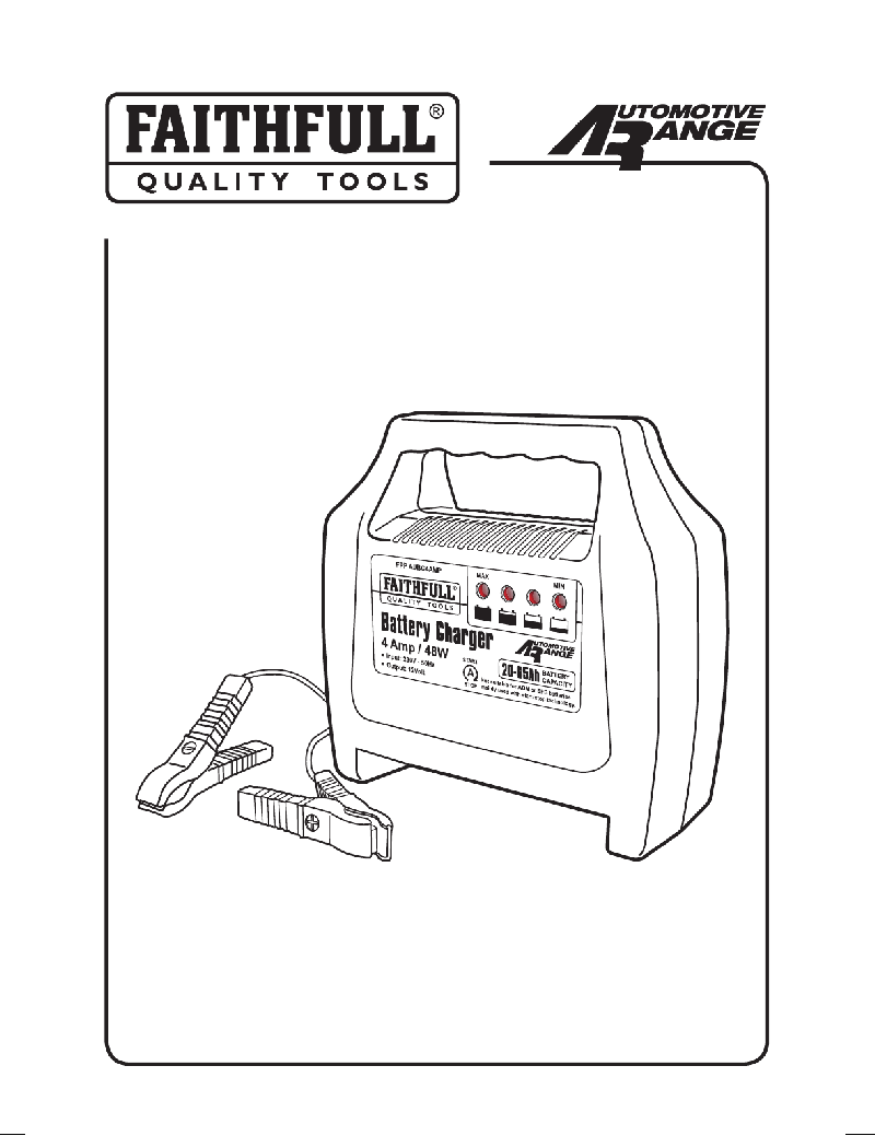 Faithfull FPPAUBC4AMP Battery Charger Instruction manual