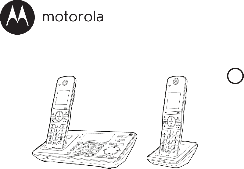 Motorola RT802 Cordless Telephone Operation & user's