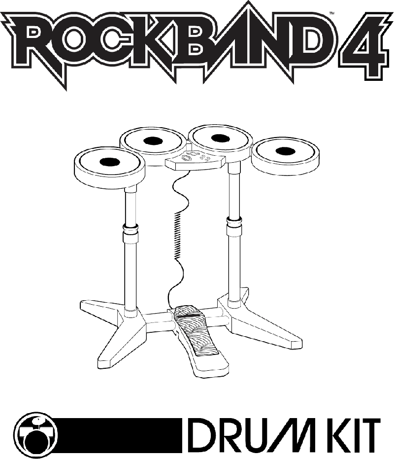 Mad Catz Rock Band 4 Drums Operation & user's manual PDF