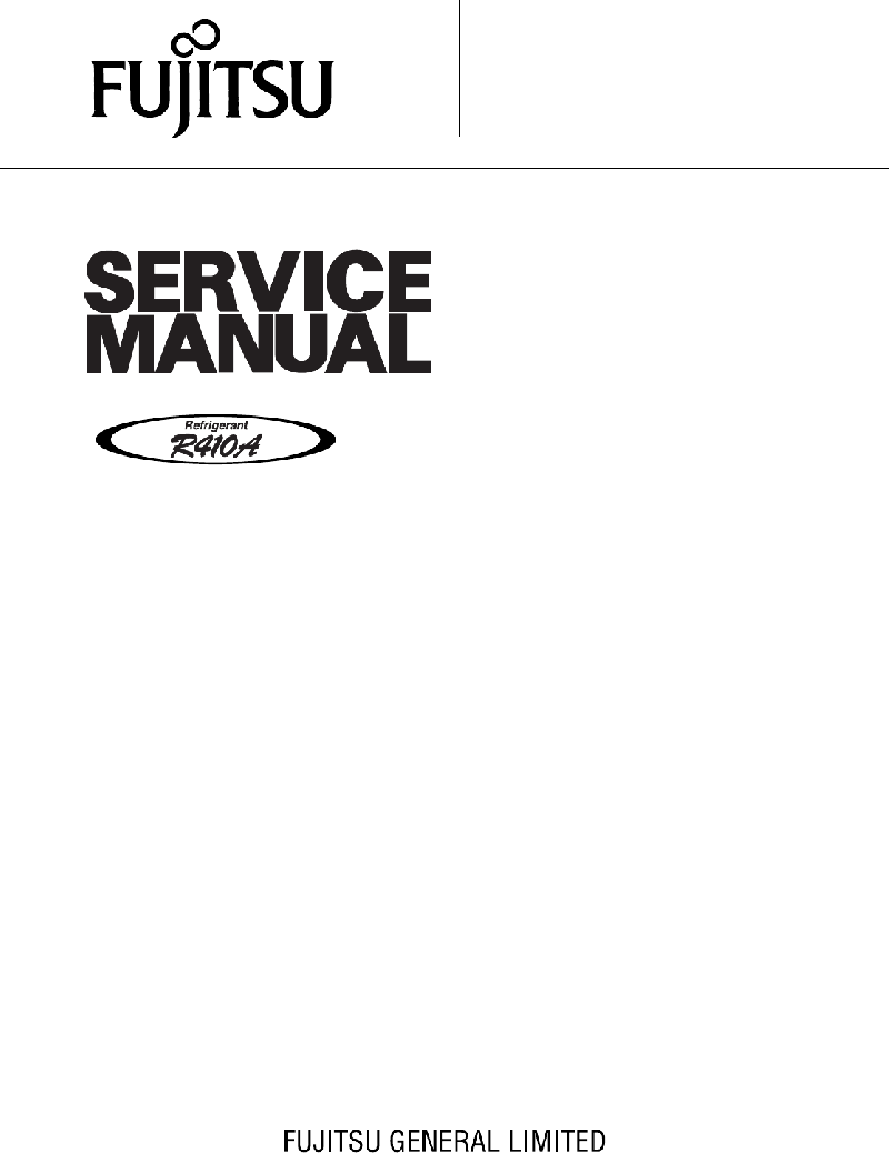 Fujitsu AOY12FSBC Air Conditioner Service manual PDF View