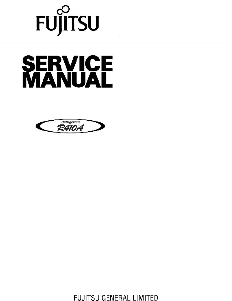 Fujitsu AOY10FSAC Air Conditioner Service manual PDF View