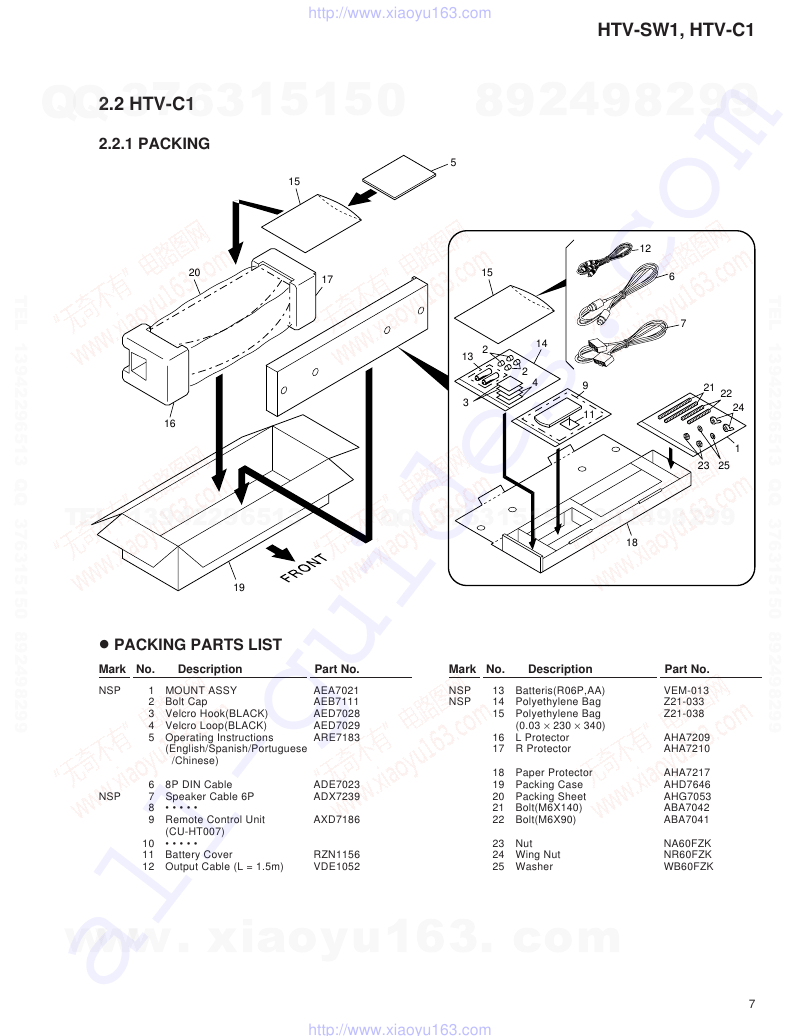 Pioneer HTV-C1 Subwoofer Service manual PDF View/Download