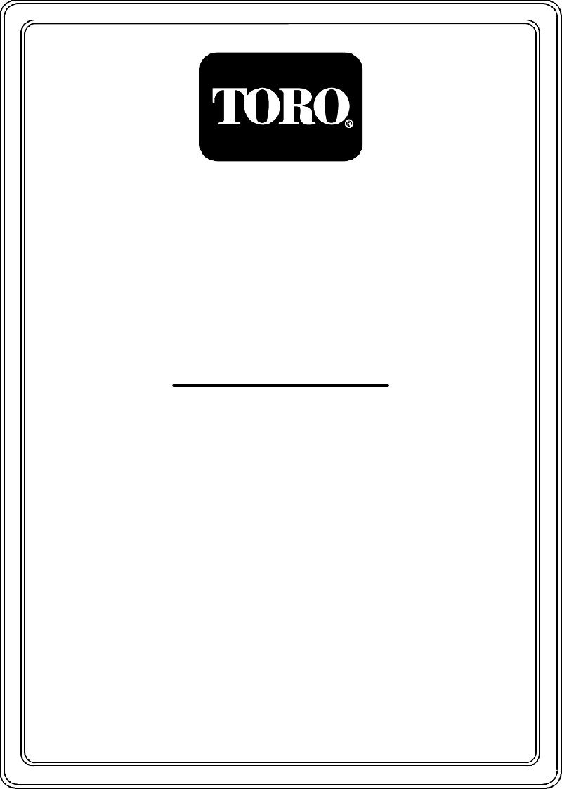 Toro z-252 Lawn Mower Operator's manual PDF View/Download