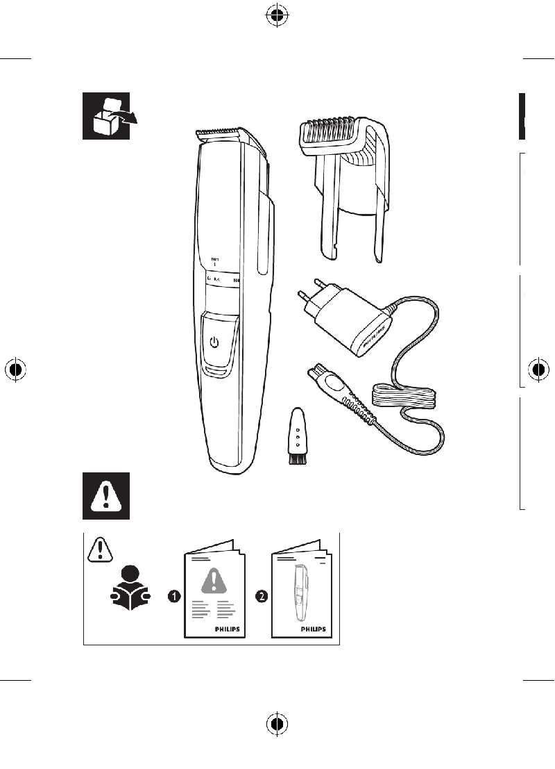 Philips BT5211 Electric Shaver Quick start manual PDF View
