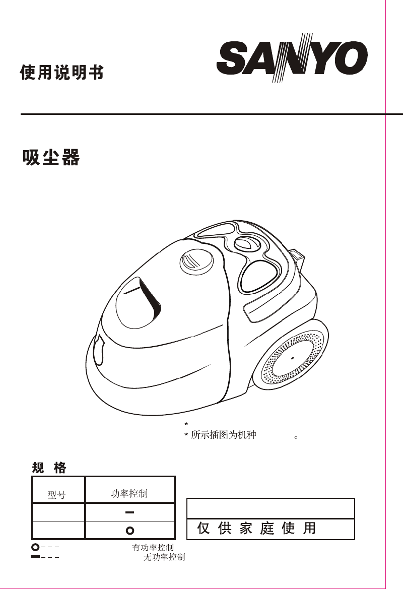 Sanyo SC-298T Vacuum Cleaner Instruction manual PDF View