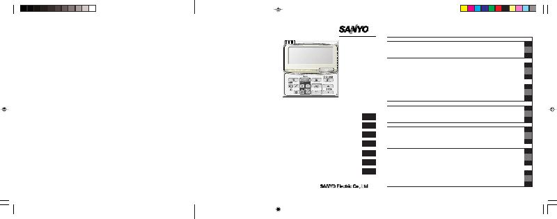 Sanyo ECO-i RCS-TM80BG Remote Control Instruction manual