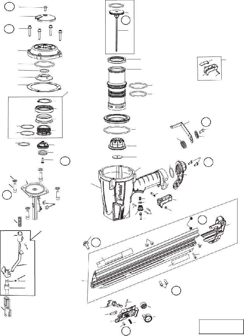 Paslode F-350P Nail Gun Operating manual and schematic PDF
