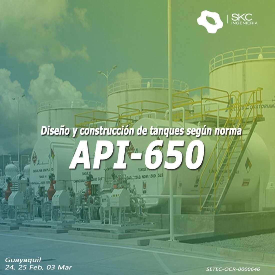 Diseo y Construccin de Tanques Atmosfricos segn API650 at Urdesa Central Guayaquil