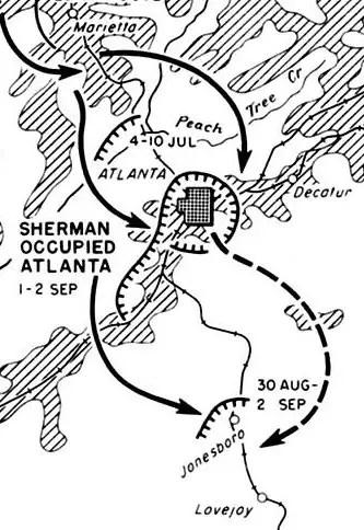 Georgia Civil War Battle of Lovejoys Station August 20 1864