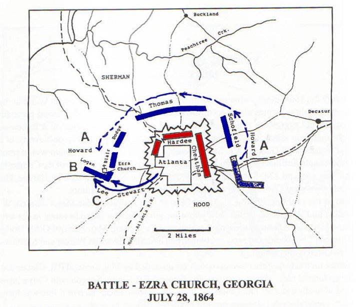 Battle of Ezra Church Civil War Georgia July 28 1864