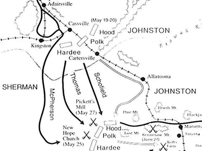 Civil War Atlanta Campaign Battle of Pickett Mills May 27 1864
