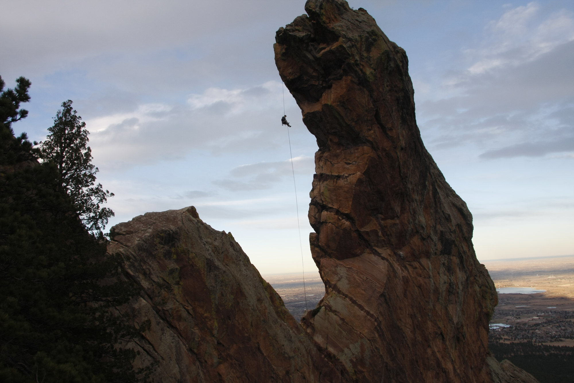 From there, it's a six. Repelling From Devil S Thumb In Colorado