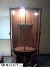 ARMSLIST - For Sale: Bow shaped gun cabinet