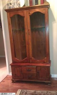 ARMSLIST - For Sale: Antique Knotty Pine Gun Cabinet