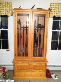 ARMSLIST - For Sale: Solid Wood Oak Gun Cabinet - $765