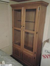 ARMSLIST - For Sale: Large Wooden Gun Cabinet w/ Glass Doors