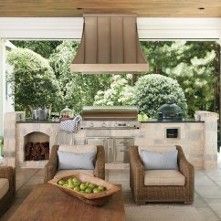 Outside Kitchen Outdoor Design Plans Free Get The Look Year Round Atlanta Magazine Kitchens Keep Smoke And Heat Grilling Also Allows Lots Of Fresh Options For Healthy Meals Says Hollman