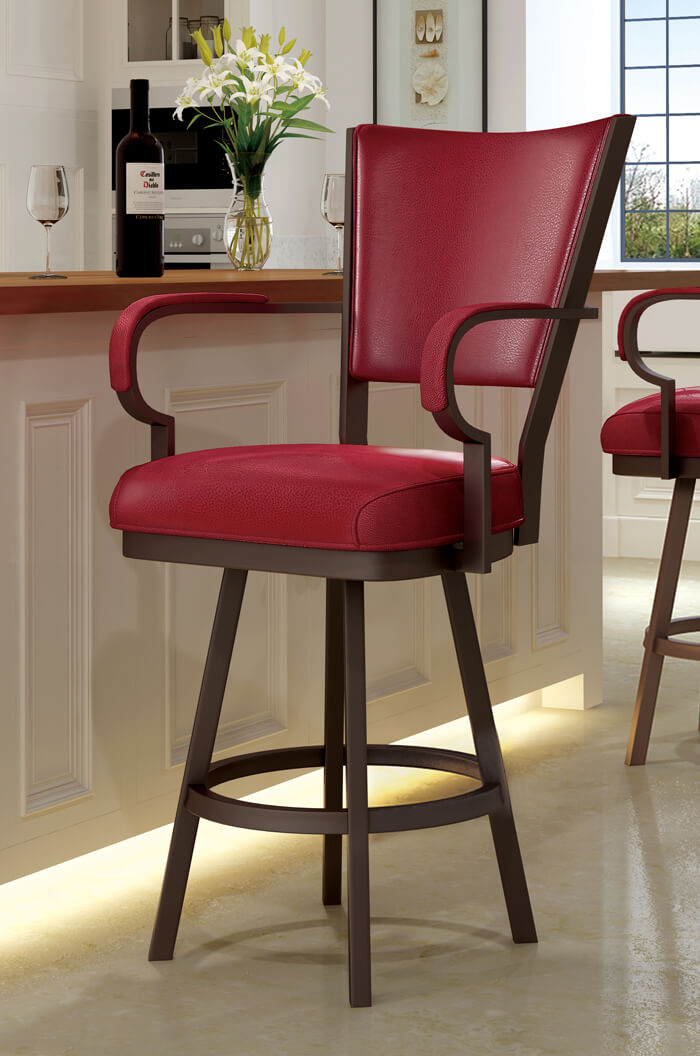 bar chairs with arms and backs revolving chair in kolkata callee - laguna swivel stool arms, 24 | 26 30 34