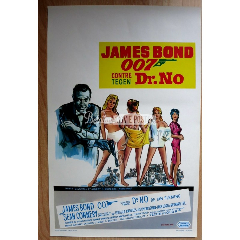 dr no belgian movie poster store