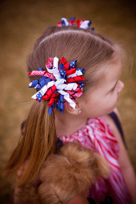 hair bows - 4th of july