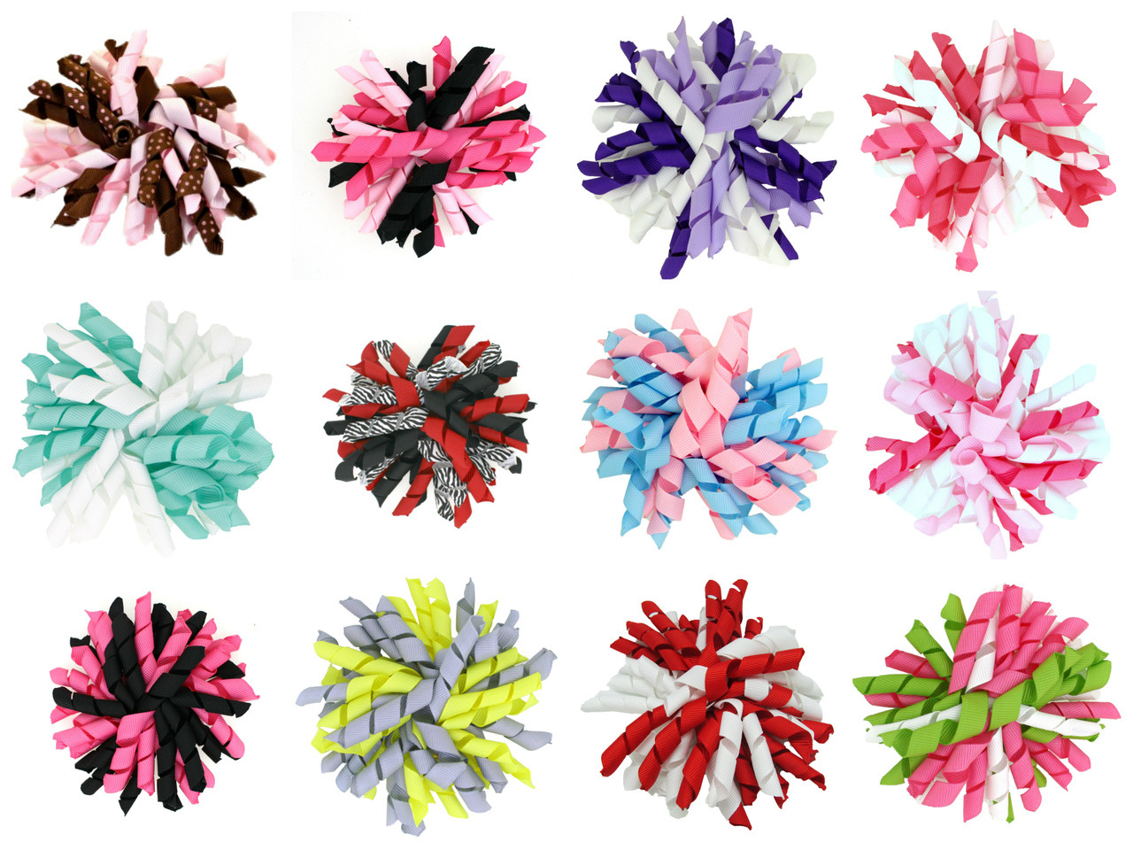 hair bows 12 assorted