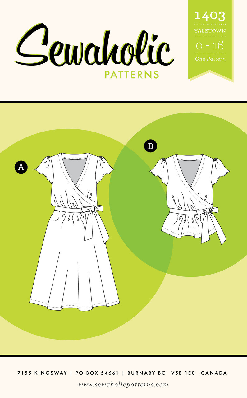 Yaletown Dress and Blouse by Sewaholic Patterns - Envelope Cover