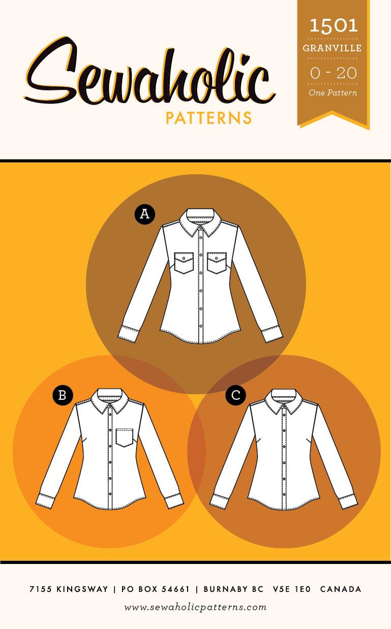 Granville Shirt by Sewaholic Patterns, Envelope Front