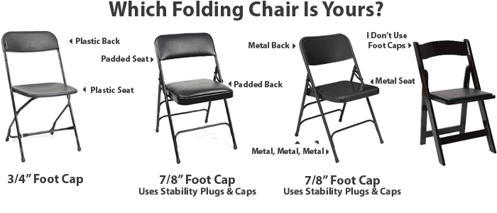 folding chair foot caps lightweight beach backpack which parts you need for your chairs - foldingchairsandtables.com