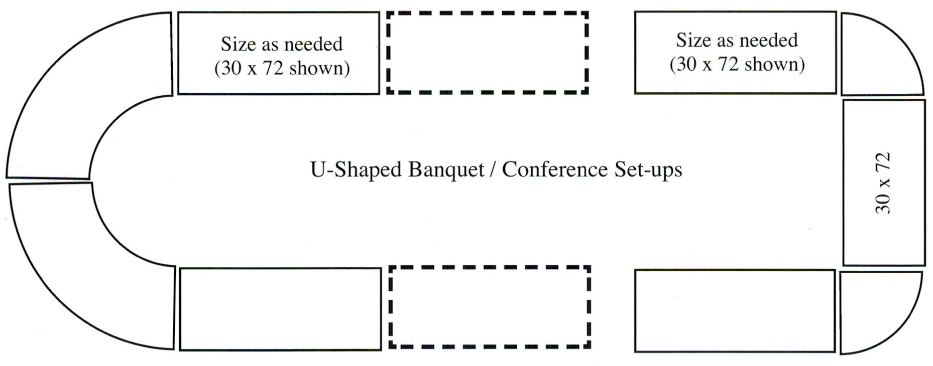 catering buffet set up diagram 2003 dodge ram wiring how to arrange your area - foldingchairsandtables.com