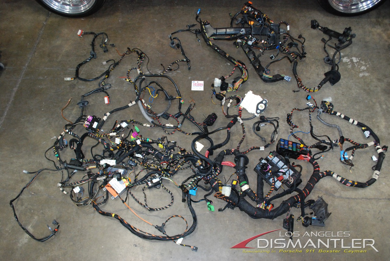 small resolution of porsche 911 996 turbo manual cabriolet complete chassis wire wiring harness oem