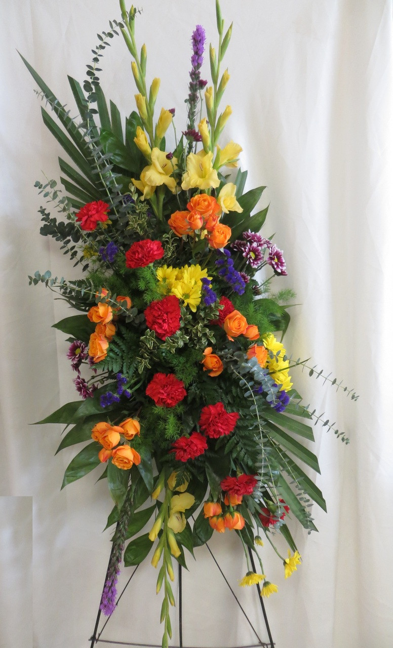 Enchanted flowers art gardening flower and vegetables order bright beautiful funeral spray of flowers in houston tx from izmirmasajfo