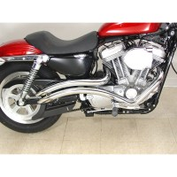 V-Twin Chrome Curvado Exhaust for 1986-2016 Harley ...