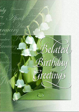 Belated Birthday Greetings Birthday Card Sisters Of Carmel