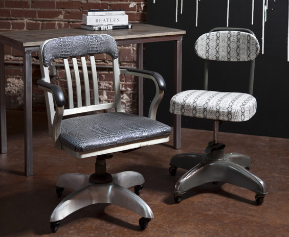 Vintage Industrial Office Chairs  The Mod Bohemian