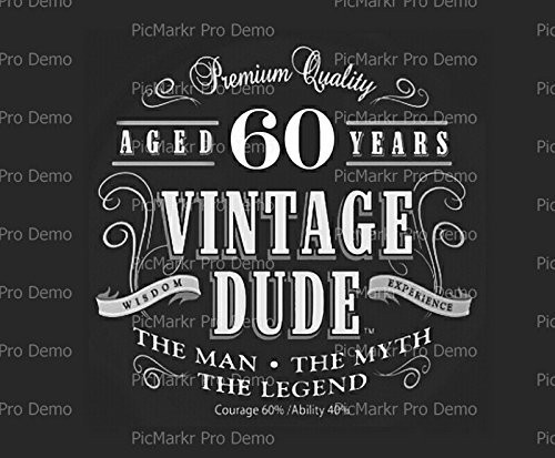 vintage dude 60th birthday